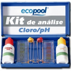 Estojo analisador de Cloro total e pH ECOPOOL